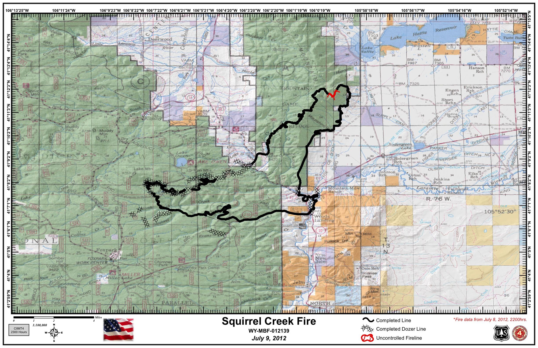 Squirrel Creek Fire   WildlandFires.info